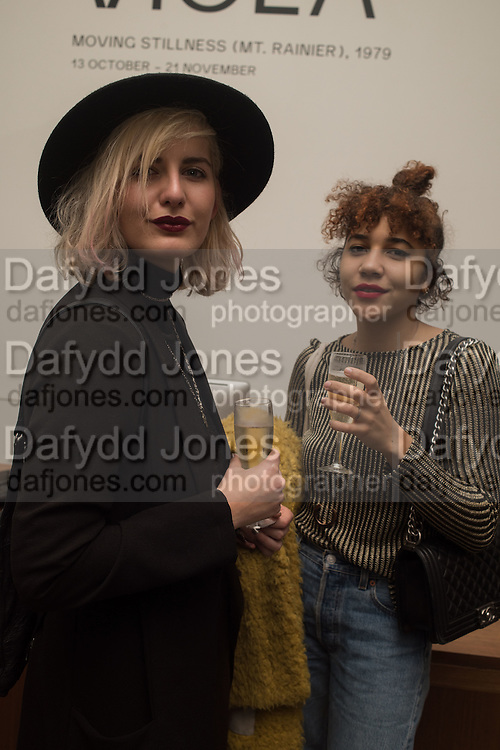 "LUCY POGLRILUR; CAROLINE MAUGER, The launch of Rachel Howard's ""Humble Hanger"" -  a limited edition jewellery collaboration with True Rocks.. BlainSouthern, Hanover Sq. London. 18 November 2015"