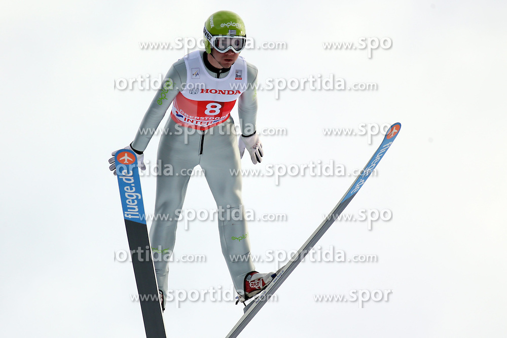 28.12.2013, Schattenbergschanze, Oberstdorf, GER, FIS Ski Sprung Weltcup, 62. Vierschanzentournee, Garmisch Partenkirchen, Bewerb, im Bild Nico Polychronidis // Nico Polychronidis during Competition of 62th Four Hills Tournament of FIS Ski Jumping World Cup at the at the Schattenbergschanze in Oberstdorf, Germany on 2013/12/28. EXPA Pictures &copy; 2014, PhotoCredit: EXPA/ Sammy Minkoff<br /> <br /> *****ATTENTION - OUT of GER*****