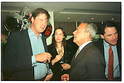 The Marquess of Worcester; Taki; Charles Glass, Tatler Ego party. Nobu. London. 23 April 1997. <br /> SUPPLIED FOR ONE-TIME USE ONLY> DO NOT ARCHIVE. © Copyright Photograph by Dafydd Jones 248 Clapham Rd.  London SW90PZ Tel 020 7820 0771 www.dafjones.com