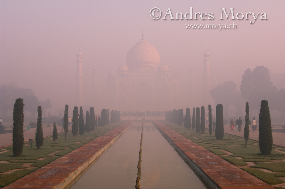 The Taj Mahal, Uttar Pradesh, Mughal monument in Agra, India Image by Andres Morya