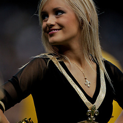 2009 September 13: A New Orleans Saints Saintsations cheerleaders during a 45-27 win by the New Orleans Saints over the Detroit Lions at the Louisiana Superdome in New Orleans, Louisiana.