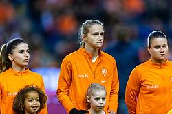 05-04-2019 NED: Netherlands - Mexico, Arnhem<br /> Friendly match in GelreDome Arnhem. Netherlands win 2-0 / Danielle van de Donk #10 of The Netherlands, Vivianne Miedema #9 of The Netherlands, Sherida Spitse #8 of The Netherlands