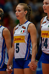 04-08-2019 ITA: FIVB Tokyo Volleyball Qualification 2019 / Netherlands, - Italy Catania<br /> last match pool F in hall Pala Catania between Netherlands - Italy for the Olympic ticket. Italy win 3-0 and take the ticket to the Olympics / Ofelia Malinov #5 of Italy
