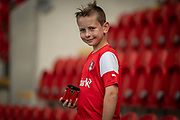 A young Rotherham United fan before the EFL Sky Bet League 1 match between Rotherham United and Bolton Wanderers at the AESSEAL New York Stadium, Rotherham, England on 14 September 2019.