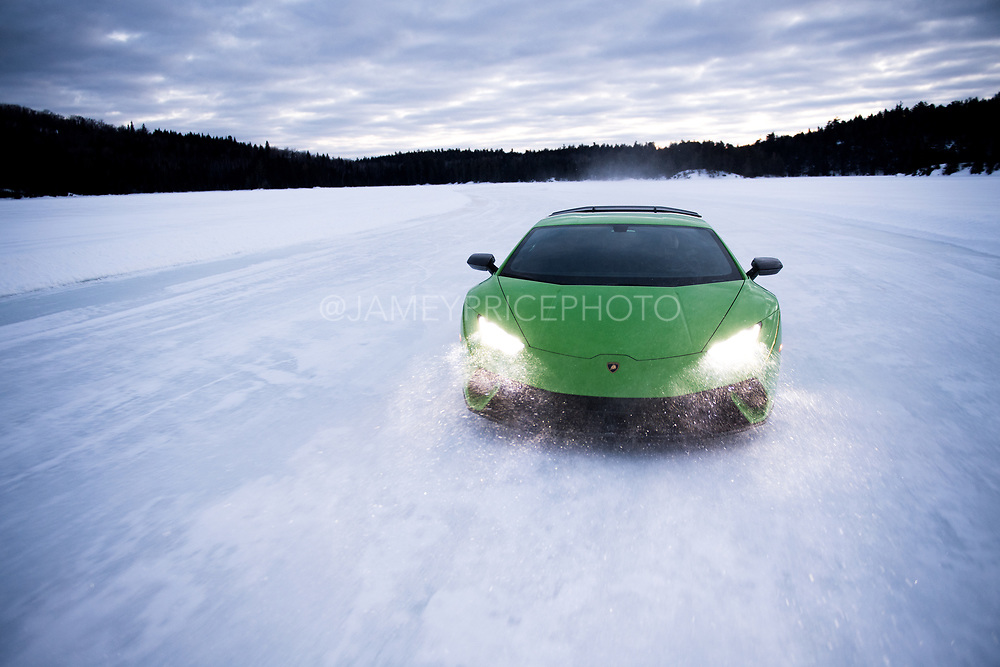Lamborghini Winter Accademia program, Lac Sacacomie Quebec.