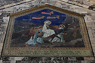 Mosaic at the Church of the Visitation in Ein Kerem in the Western part of Jesusalem.<br /> Photo by Dennis Brack