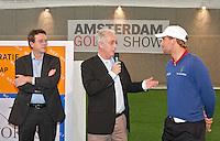 AMSTERDAM - Jan Kees van der Velden rechts Floris de Vries  en Jeroen Stevens (l) met Amsterdam Golf Show 2012 in de Amsterdamse Rai. Foto Koen Suyk