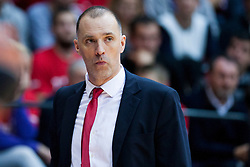 Veljko Mrsic, head coach of Cedevita during Euroleague basketball match in 6th Round of Group B between KK Cedevita Zagreb and Olympiacos Piraeus, on November 19, 2015, in Drazen Petrovic basketball hall, Zagreb, Croatia.