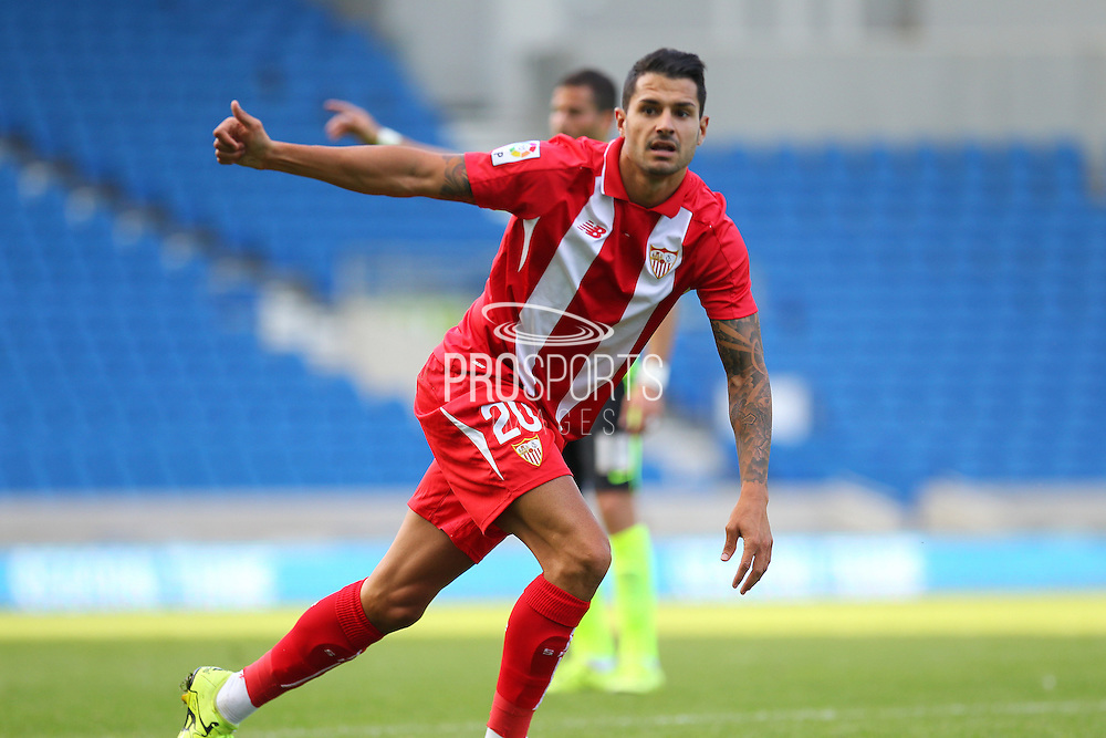 Vitolo of Sevilla during the Pre-Season Friendly match between Brighton and Hove Albion and Sevilla at the American Express Community Stadium, Brighton and Hove, England on 2 August 2015. Photo by Phil Duncan.