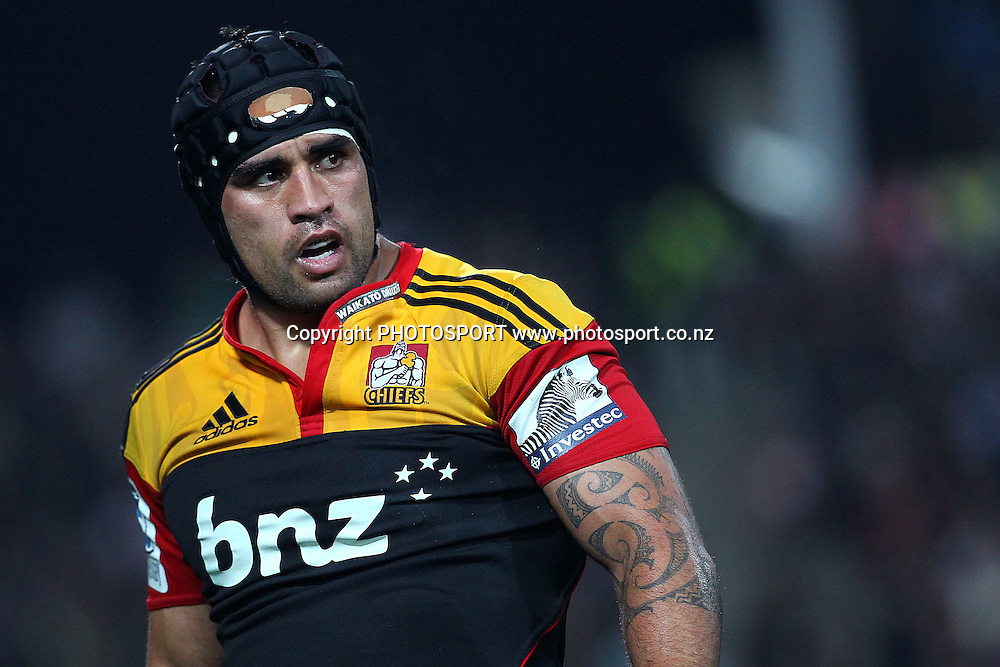 Chiefs' Liam Messam looks on. Super Rugby rugby union match, Chiefs v Bulls at Waikato Stadium, Hamilton, New Zealand. Friday 25th May 2012. Photo: Anthony Au-Yeung / photosport.co.nz