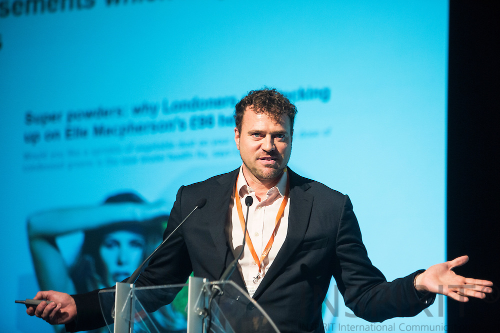 Thorsten Hartmann , Director of Consulting <br /> Canadean, UK, at the Juice Summit in Antwerp 15 - 16 October 2014. Photo: Erik Luntang