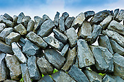 Traditional dry stone wall in The Burren, County Clare, West of Ireland