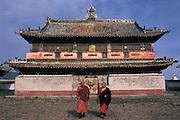 Zuu of Buddha Temple & Monks<br /> Eden Kuu Khiid Monastery<br /> Kara Korum<br /> Mongolia