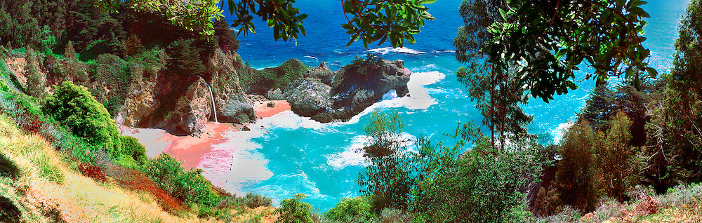 Julia Pfeiffer Burns State Park, Big Sur, California CGI Backgrounds, ,Beautiful Background