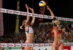 Martina Jakob vs Simona Fabjan during women final match of Slovenian National Championship in beach volleyball Kranj 2012, on June 30, 2012 in Kranj, Slovenia. (Photo by Vid Ponikvar / Sportida.com)