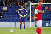 AFC Wimbledon goalkeeper Nicola Tzanev (13) about to take a free kick during the Pre-Season Friendly match between AFC Wimbledon and Bristol City at the Cherry Red Records Stadium, Kingston, England on 9 July 2019.