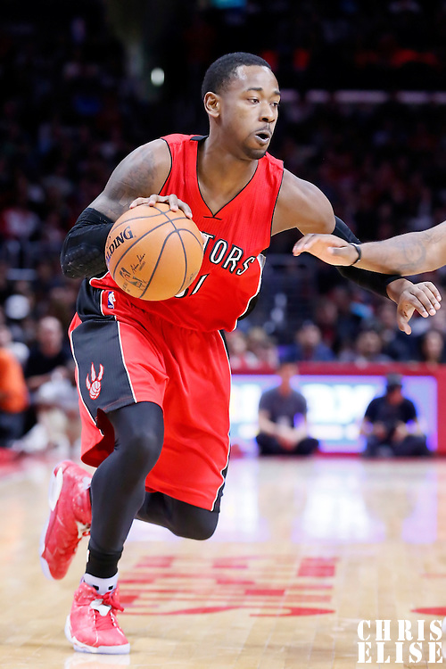 27 December 2014: Toronto Raptors forward Terrence Ross (31) dribbles during the Toronto Raptors 110-98 victory over the Los Angeles Clippers, at the Staples Center, Los Angeles, California, USA.
