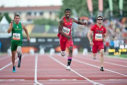 FOURIE Arnu, BROWNE Richard, WALLACE Jarryd, USA, RSA, GBR, 100m, T44, 2013 IPC Athletics World Championships, Lyon, France