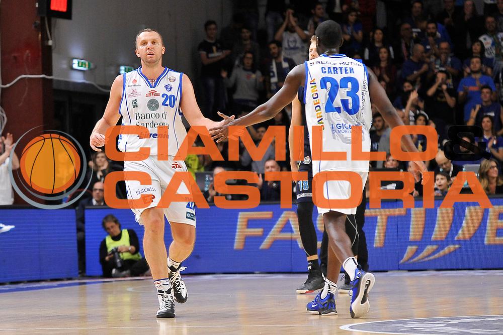 Dusko Savanovic - Josh Carter<br /> Banco di Sardegna Dinamo Sassari - Vanoli Cremona<br /> LegaBasket Serie A LBA Poste Mobile 2016/2017<br /> Sassari 26/11/2016<br /> Foto Ciamillo-Castoria