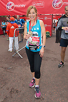 Sian Williams (Channel 5 news anchor running for Heads Together). The Virgin Money London Marathon, 23rd April 2017.<br /> <br /> Photo: Joanne Davidson for Virgin Money London Marathon<br /> <br /> For further information: media@londonmarathonevents.co.uk