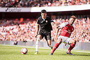 Arsenal midfielder Alex Oxlade-Chamberlain (15), Sevilla forward Joaquin Correa (11) during the Emirates Cup 2017 match between Arsenal and Sevilla at the Emirates Stadium, London, England on 30 July 2017. Photo by Sebastian Frej.