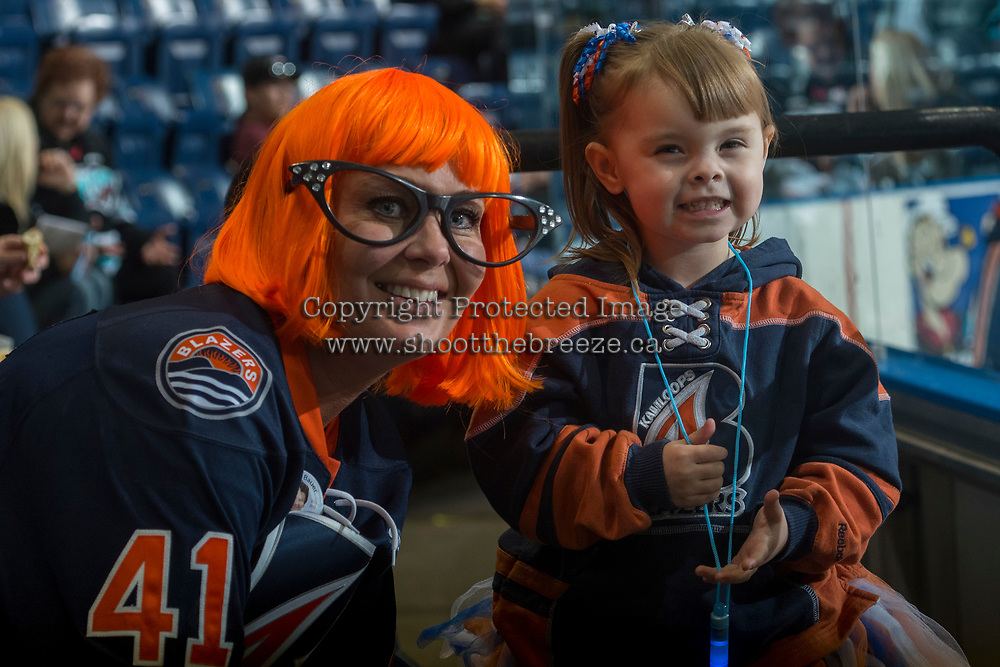 KELOWNA, CANADA - MARCH 25: Kamloops Blazers' fans on March 25, 2017 at Prospera Place in Kelowna, British Columbia, Canada.  (Photo by Marissa Baecker/Shoot the Breeze)  *** Local Caption ***
