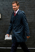 UNITED KINGDOM, London: 17 November 2015 Jeremy Hunt Secretary of State for Health arrives to attend Cabinet Meeting at 10 Downing Street in London, England. Picture by Andrew Cowie / Story Picture Agency