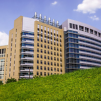 Photo of Cincinnati Children's Hospital Medical Center. The Cincinnati Children's Hospital is affiliated with the University of Cincinnati. Photo is high resolution and was taken in 2012.