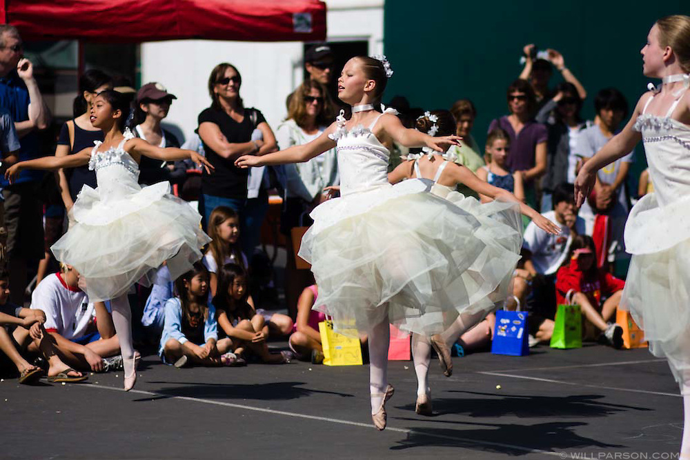 A group of girls perform as part of the Royal Dance Academy  during the Halloween carnival at the Ashley Falls School in Carmel Valley on October 19, 2008.