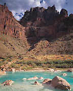 Aquamarine pools form near the mouth of the Little Colorado River during dry season when the river is spring-fed, near junction with Colorado River, Grand Canyon National Park, Arizona..Subject photograph(s) are copyright Edward McCain. All rights are reserved except those specifically granted by Edward McCain in writing prior to publication...McCain Photography.211 S 4th Avenue.Tucson, AZ 85701-2103.(520) 623-1998.mobile: (520) 990-0999.fax: (520) 623-1190.http://www.mccainphoto.com.edward@mccainphoto.com.