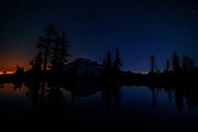 Mount Rainier Sunset Reflection