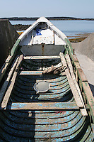 Currach on Inis Mor Aran Islands County Galway Ireland