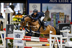 PUSCHAK Wolfgang (GER), Number One<br /> Grand Prix von Volkswagen<br /> Int. jumping competition over two rounds (1.55 m) - CSI3*<br /> Comp. counts for the LONGINES Rankings<br /> Braunschweig - Classico 2020<br /> 08. März 2020<br /> © www.sportfotos-lafrentz.de/Stefan Lafrentz