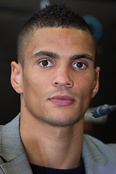 © Licensed to London News Pictures . 25/04/2013 . Sheffield , UK . ANTHONY OGOGO . Final press conference in advance of Amir Khan vs Julio Diaz boxing bout , today (Thursday 25th April 2013) at the Mercure Hotel in Sheffield City Centre ahead of the fight on April 27th at the Motorpoint Arena in Sheffield . Photo credit : Joel Goodman/LNP