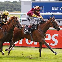 Dew Reward and Catherine Gannon winning the 4.00 race