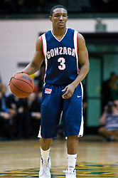 January 30, 2010; San Francisco, CA, USA;  Gonzaga Bulldogs guard Demetri Goodson (3) during the first half against the San Francisco Dons at the War Memorial Gym.  San Francisco defeated Gonzaga 81-77 in overtime.