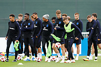SAINT PETERSBURG, RUSSIA - JULY 10: England players during an Englang national team training session ahead of the 2018 FIFA World Cup Russia Semi Final match against Croatia at Stadium Spartak Zelenogorsk on July 10, 2018 in Saint Petersburg, Russia. (MB Media)