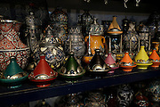 Tagine traditional Moroccan earthenware pots, Morocco