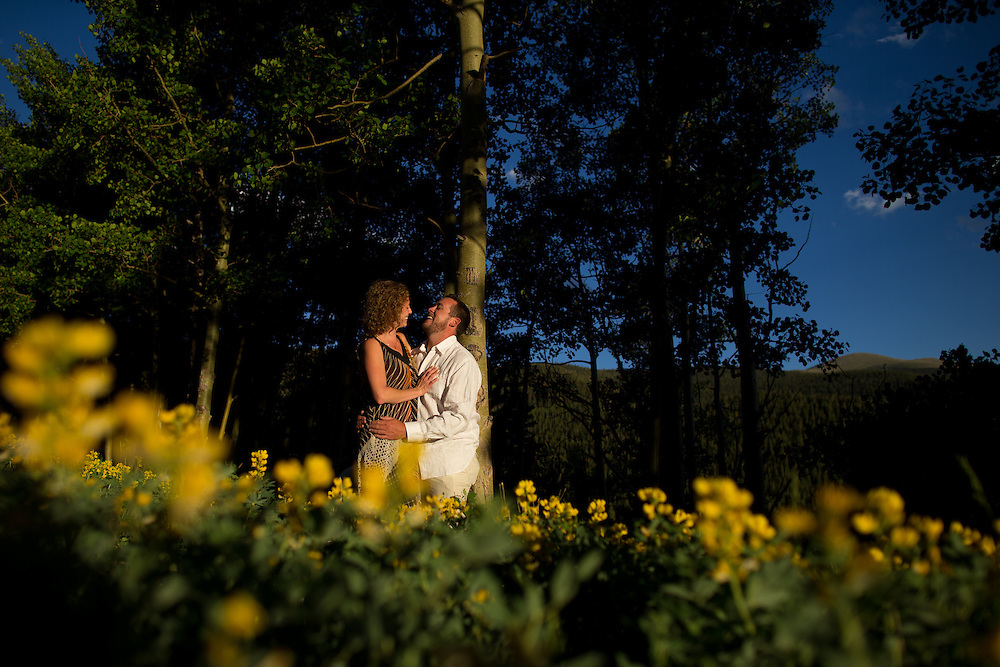 Matt Howard and Jenny Wukovits during their engagement session in Idaho Springs, Wednesday, June 26, 2013. Photo by Justin Edmonds