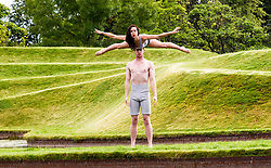 Pictured: Jon Bonaventura and Shannan Vitali<br /> Driftwood. The Casus Circus will be performing at the Edinburgh Festival fringe 2017.  Their latest performance compares humans to pieces of driftwood that floats along water<br /> Ger Harley | EEm 2 August  2017