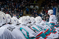 KELOWNA, CANADA - MARCH 25: Kelowna Rockets on March 25, 2016 at Prospera Place in Kelowna, British Columbia, Canada.  (Photo by Marissa Baecker/Shoot the Breeze)  *** Local Caption ***