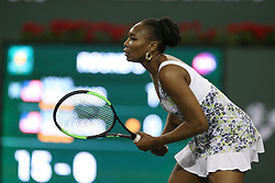March 12, 2018 - Indian Wells, California, United States Of America - INDIAN WELLS, CA - MARCH 12: Venus Williams and Serena Williams at their match against each other during the BNP Paribas Open at the Indian Wells Tennis Garden on March 12, 2018 in Indian Wells, California...People:  Venus Williams. (Credit Image: © SMG via ZUMA Wire)