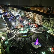 Torino 2006, Atrium Sponsor Village dei XX Giochi olimpici invernali allestito in piazza Solferino
