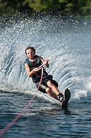 Bradley waterskiing