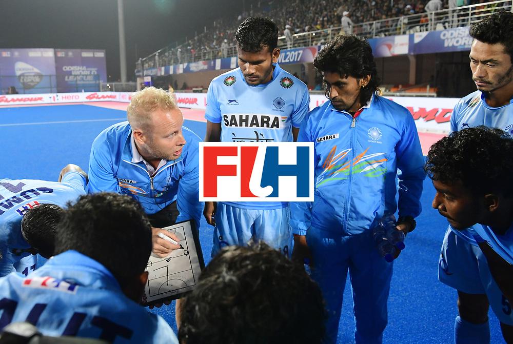 Odisha Men's Hockey World League Final Bhubaneswar 2017<br /> Match id:13<br /> Belgium v India<br /> Foto: coach Sjoerd Marijne (Ind) <br /> COPYRIGHT WORLDSPORTPICS FRANK UIJLENBROEK