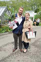 CHRIS ROBSHAW and CAMILLA KERSLAKE at the 2015 RHS Chelsea Flower Show at the Royal Hospital Chelsea, London on 18th May 2015.