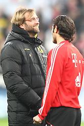 26.03.2011, Allianz Arena, Muenchen, GER, 1.FBL, FC Bayern Muenchen vs Borussia Dortmund, im Bild Jürgen (Juergen) Klopp (Trainer BVB) mit Hamit Altintop (Bayern #8)  , EXPA Pictures © 2011, PhotoCredit: EXPA/ nph/  Straubmeier       ****** out of GER / SWE / CRO  / BEL ******