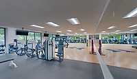 Interior Image of the Fitness Center at 14840 Conference Center Drive in Chantilly VA by Jeffrey Sauers of Commercial Photographics, Architectural Photo Artistry in Washington DC, Virginia to Florida and PA to New England