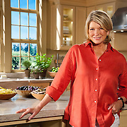 "Martha Stewart on the set of ""Martha Stewart Cooking School""."