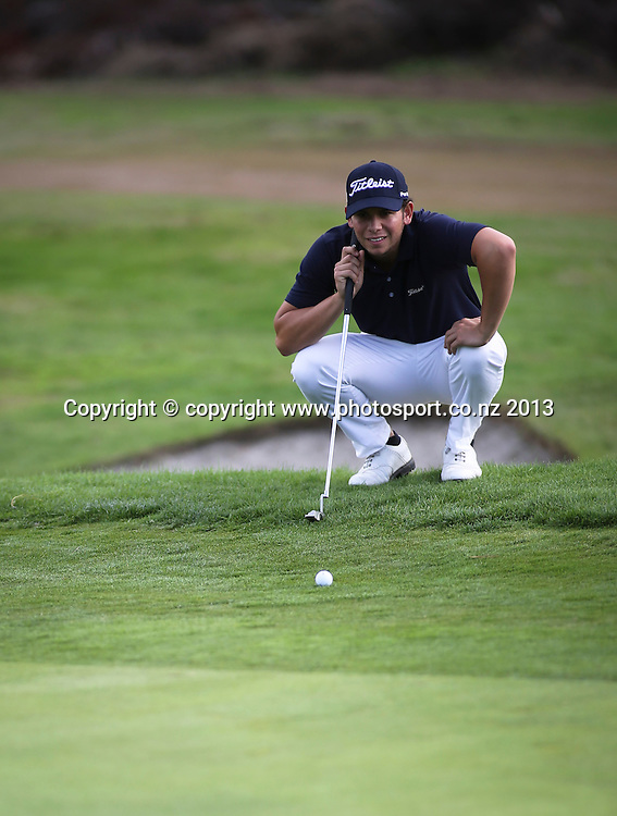Luke Toomey on Day 2 of the 2013 New Zealand Amateur Championship, Manawatu Golf Club, Palmerston North, New Zealand. Thursday 25 April 2013. Photo: John Cowpland / photosport.co.nz